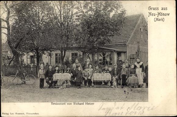 Ak Hönow Hoppegarten Brandenburg, Restaurant 0