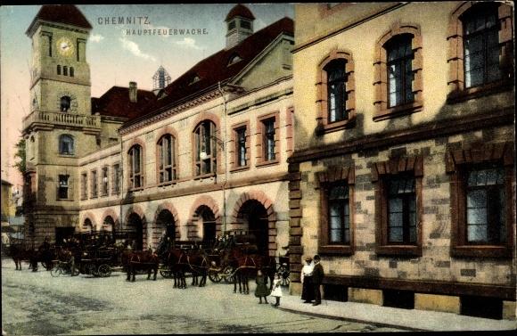 Ak Chemnitz in Sachsen, Hauptfeuerwache 0