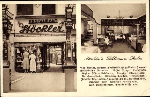Ak Berlin Charlottenburg, Kurfürstendamm 229, Restaurant Höckler, Innenansicht 0