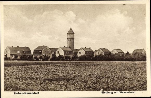 Ak Hohen Neuendorf Oberhavel, Siedlung mit Wasserturm 0