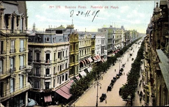 Ak Buenos Aires Argentinien, Avenida de Mayo 0