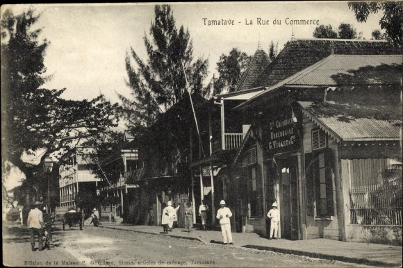 Ak Toamasina Tamatave Madagaskar, La Rue du Commerce 0