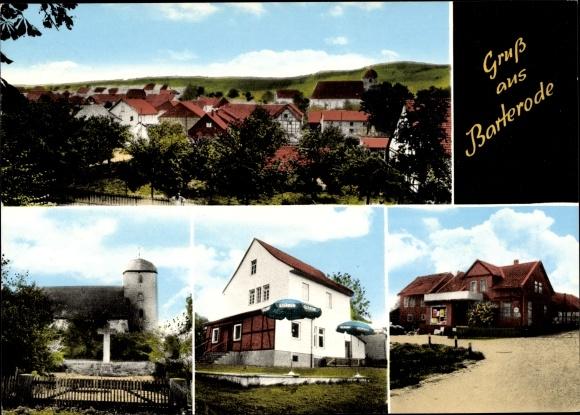 Ak Barterode Adelebsen in Niedersachsen, Kirche, Gasthaus, Totalansicht 0