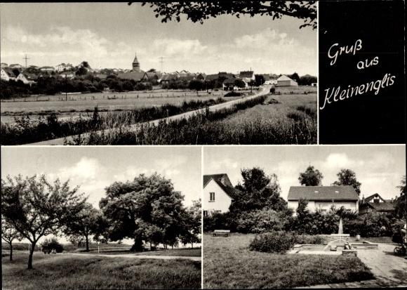 Ak Kleinenglis Borken Hessen, Ortsansichten, Springbrunnen 0