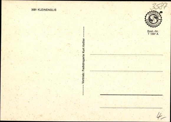 Ak Kleinenglis Borken Hessen, Ortsansichten, Springbrunnen 1