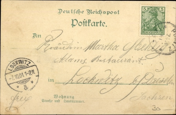 Litho Ponitz Altenburger Land Thüringen, Totalansicht, Gasthof Ponitz 1