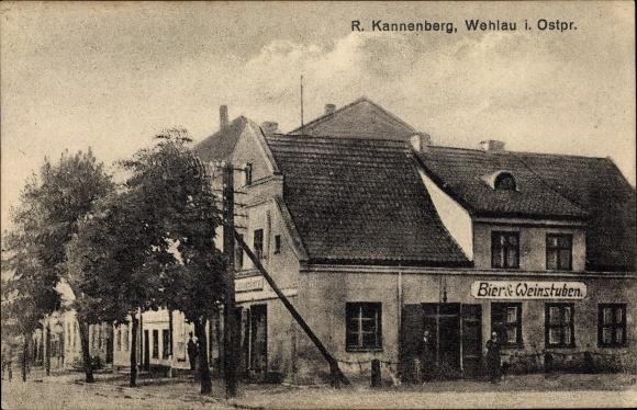 Ak Snamensk Wehlau Ostpreußen, Bier- und Weinstuben 0