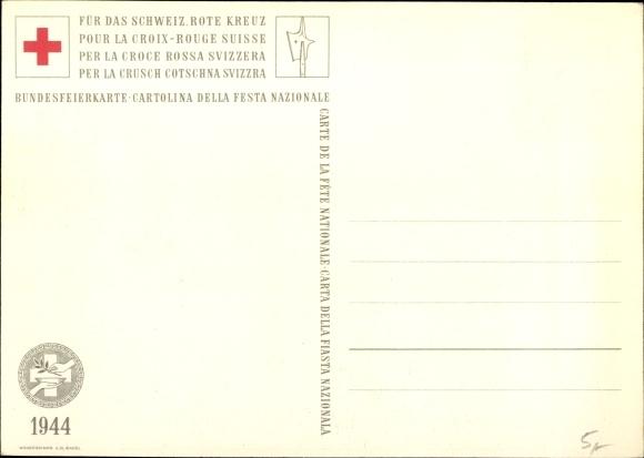 Künstler Ak Merian, St Jakob an der Birs Bâle Basel Stadt, Schlachtfeld, Bundesfeier 1944 1