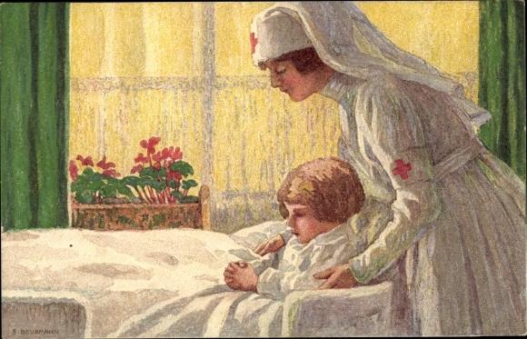 Ganzsachen Künstler Ak Bundesfeier 1927, Krankenschwester 0