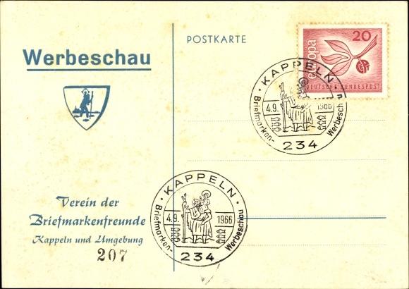 Ak Kappeln an der Schlei, Verein der Briefmarkenfreunde, Werbeschau 1966 0