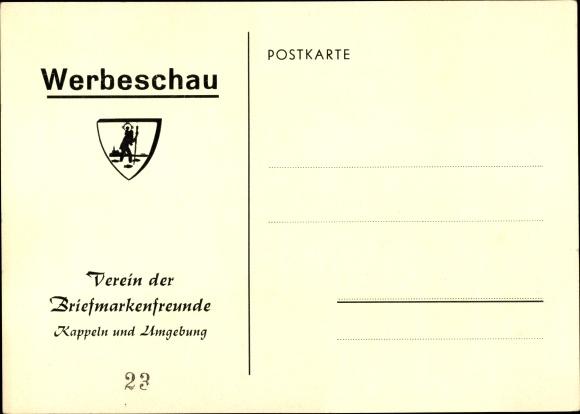 Ak Kappeln an der Schlei, Verein der Briefmarkenfreunde, Werbeschau 0