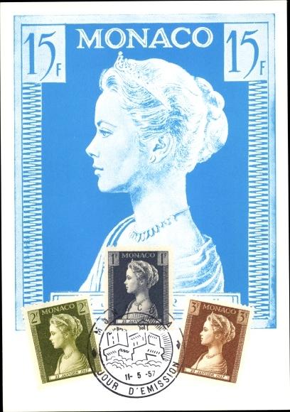 Briefmarken Ak Monte Carlo Monaco, Princesse Grace de Monaco, Grace Kelly 0