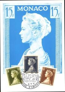 Briefmarken Ak Monte Carlo Monaco, Princesse Grace de Monaco, Grace Kelly