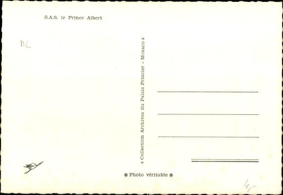 Ak SAS le Prince Albert, Albert von Monaco, Portrait 1