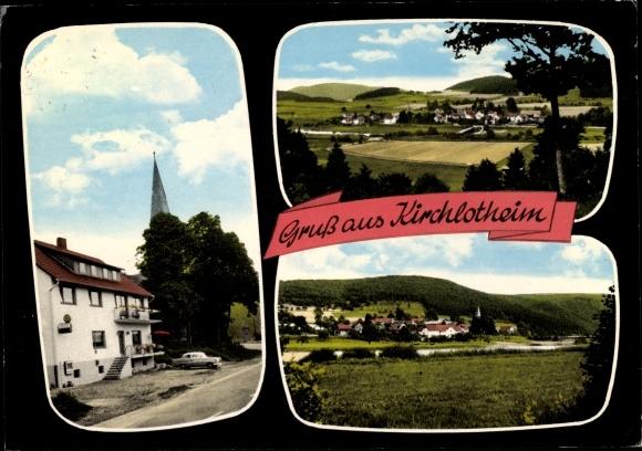 Ak Kirchlotheim Vöhl Waldeck in Nordhessen, Gasthof zum Edertal, Teilansicht 0