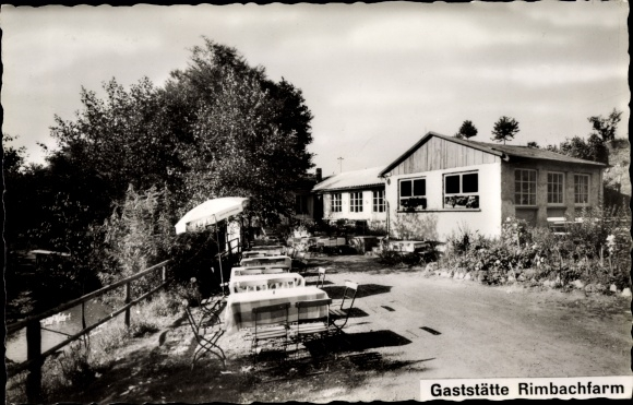 Ak Steinau an der Straße Hessen, Gaststätte Rimbachfarm, Außenansicht 0