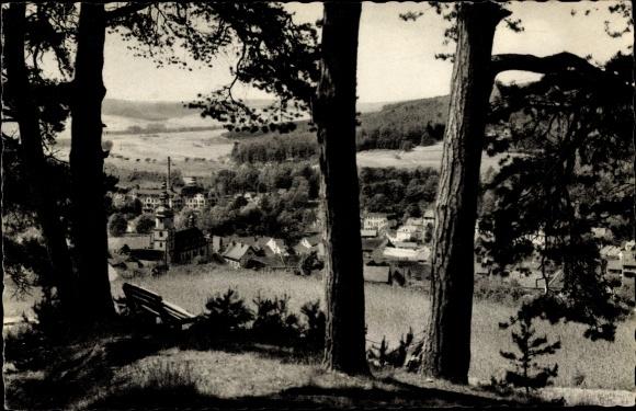 Ak Bad Salzschlirf in Hessen, Panorama vom Ort 0