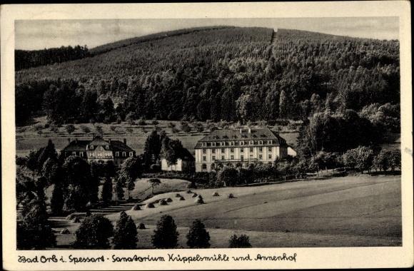 Ak Bad Orb in Hessen, Sanatorium Küppelsmühle und Annehof 0