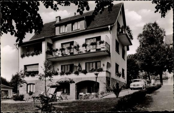 Ak Bad Orb in Hessen, Haus Freund, Außenansicht 0