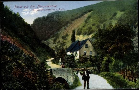 Ak Trechtingshausen am Rhein, Partie aus der Morgenbachtal 0