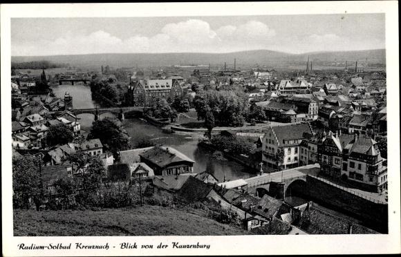 Ak Bad Kreuznach in Rheinland Pfalz, Blick von der Kreuzenburg 0