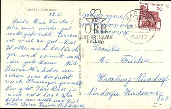 Ak Bad Orb in Hessen, Forsthaus Haselruhe, Außenansicht 1