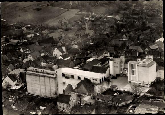 Ak Osthofen Rheinland Pfalz, Luftbild 0