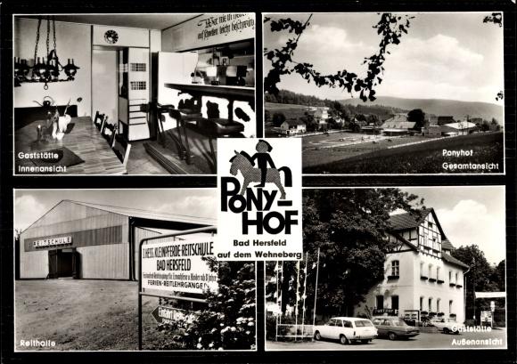 Ak Bad Hersfeld Hessen, Reitsportzentrum Ponyhof mit Reithalle 0