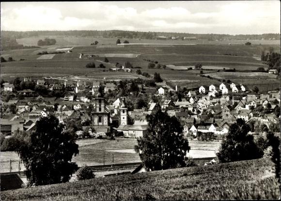 Ak Burghaun Hessen, Panorama vom Ort 0