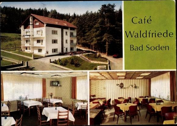 Ak Bad Soden am Taunus Hessen, Cafe Hotel Pension Waldfriede 0