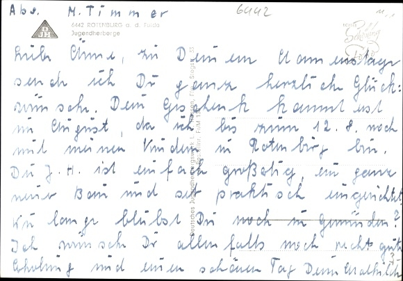 Ak Rotenburg an der Fulda, Jugenherberge, Außenansicht 1