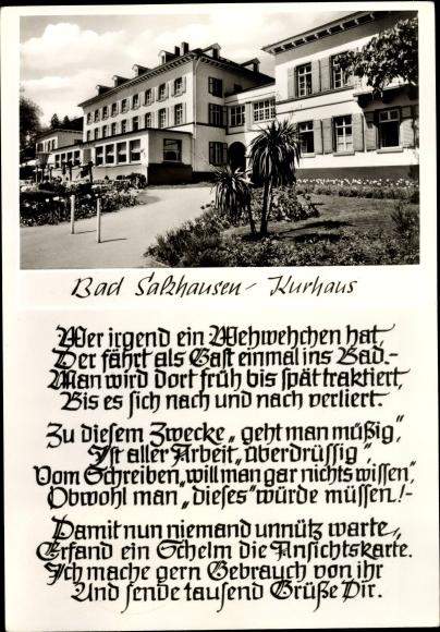 Ak Bad Salzhausen Nidda in Hessen, Kurhaus, Außenansicht 0