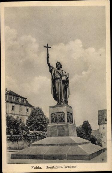 Ak Fulda in Osthessen, Bonifacius Denkmal 0