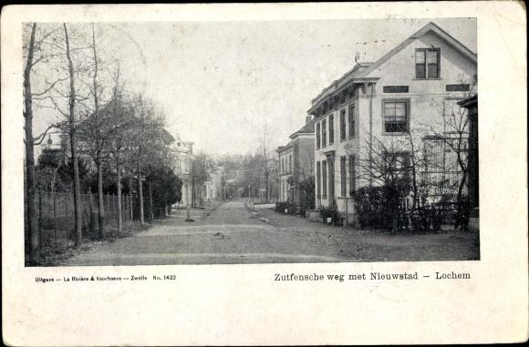 Ak Lochem Gelderland, Zutfensche weg met Nieuwstad 0