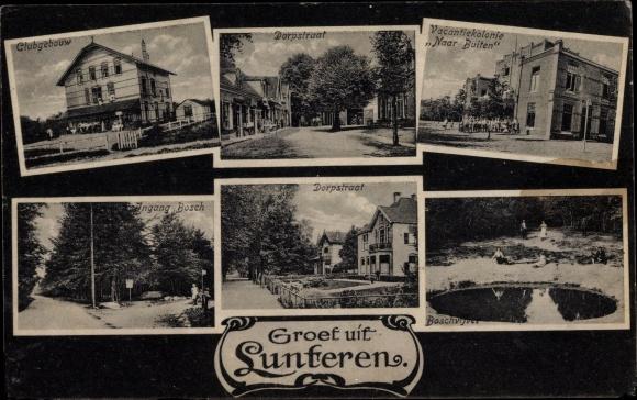 Ak Lunteren Ede Gelderland, Clubgebouw, Dorpstraat, Vacantiekolonie Naar Buiten 0