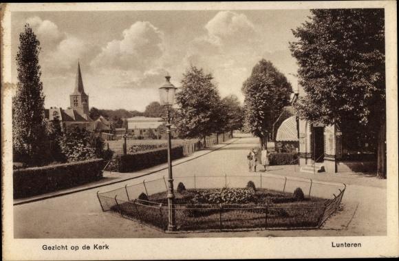 Ak Lunteren Ede Gelderland, Gezicht op de Kerk 0