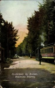 Ak Oosterbeek Renkum Gelderland, Utrechtsche Straatweg, Eisenbahn