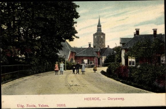 Ak Heerde Gelderland Niederlande, Dorpsweg 0