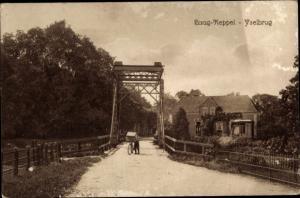 Ak Laag Keppel Gelderland, Yselbrug, Brücke, Radfahrer