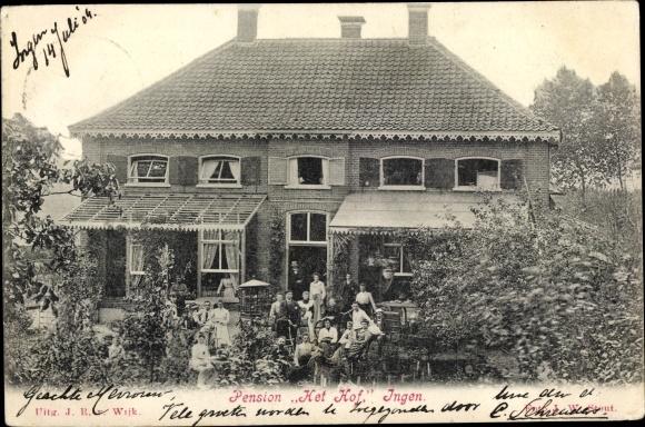 Ak Ingen Buren Gelderland Niederlande, Pension Het Hof 0