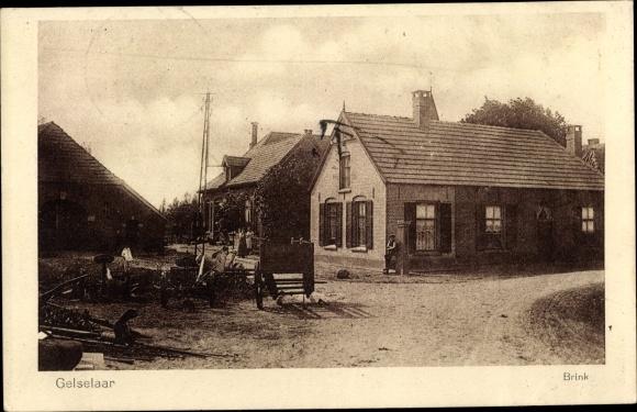 Ak Gelselaar Gelderland, Brink, Straßenpartie, Häuser 0