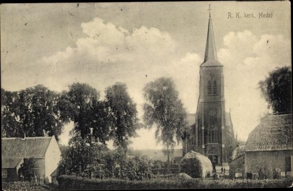 Ak Hedel Gelderland, R. K. kerk, Kirche 0