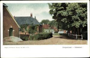 Ak Gelselaar Gelderland, Brink, Straßenpartie, Häuser, Dorpstraat