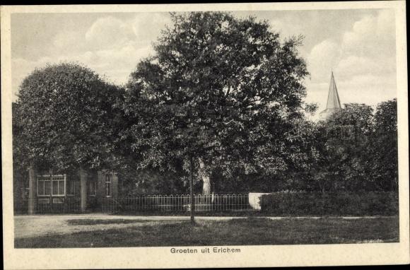 Ak Erichem Gelderland, Ortspartie, Kirchturm 0