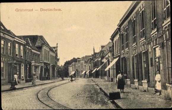 Ak Doetinchem Gelderland, Grutstraat, Hotel Rademaker 0