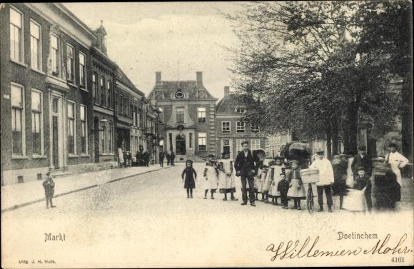Ak Doetinchem Gelderland, Markt 0
