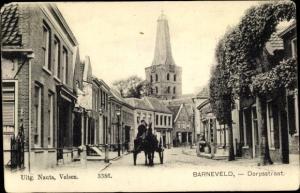 Ak Barneveld Gelderland Niederlande, Dorpsstraat, Kerk