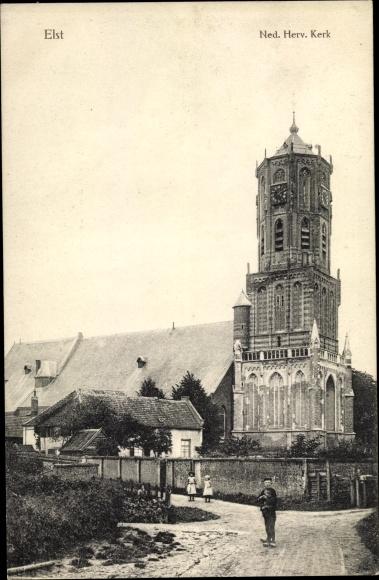 Ak Elst Overbetuwe Gelderland, Ned. Herv. Kerk 0