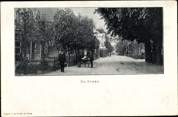 Ak De Steeg Rheden Gelderland, Straat 0