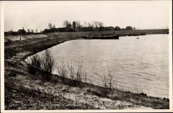 Ak Lobith Rijnwaarden Gelderland, Tuindorp met Vluchthaven 0